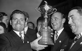 Dai Rees with the Ryder Cup